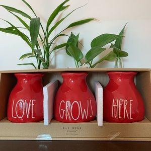 Rae Dunn Love Grows Here Vases